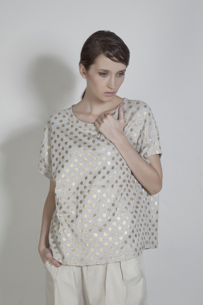Womenswear. Oversized Polkadots Top