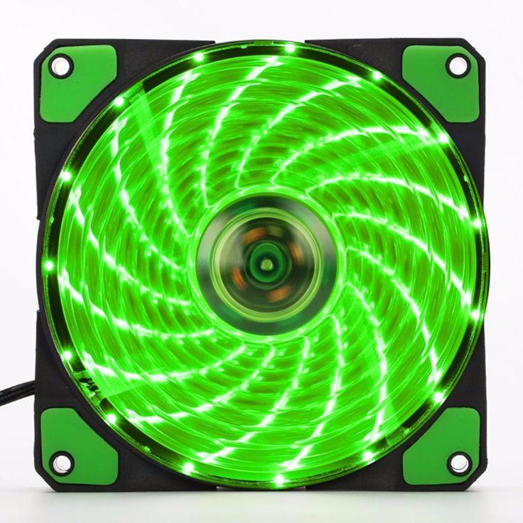 120mm LED Ultra Silencioso Ventilador Gabinete Do Computador PC 15 LEDs 12 V Com Borracha Conector Molex Tranquila Fácil Instalado fã