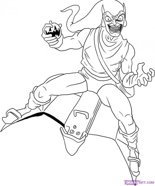spiderman hobgoblin coloring pages | Spiderman Coloring Pages With Green Goblin | Online ...