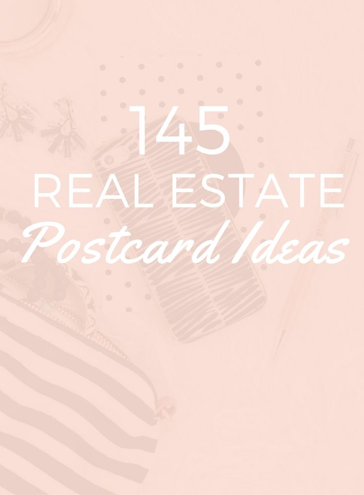 145 Easy Real Estate Postcard Ideas - Balderdash House