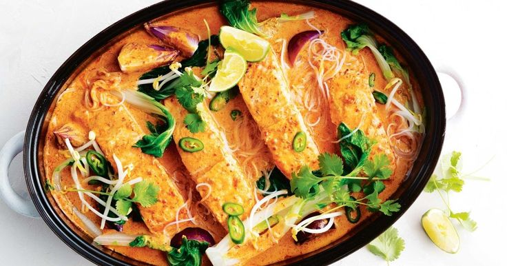 Get dinner on the table in just 17 minutes, thanks to this quick cheat's salmon laksa.