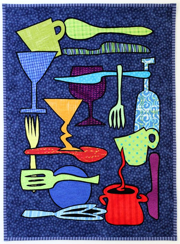 Kitchen Stitching quilt by Pam RuBert | pamdora: