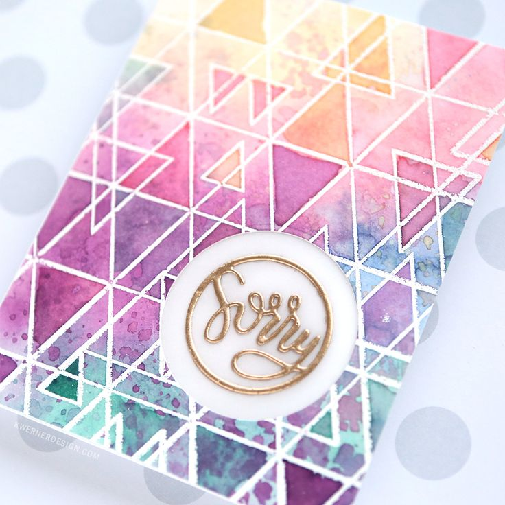 Emboss Resist & Multilayered Watercoloring with Distress Inks