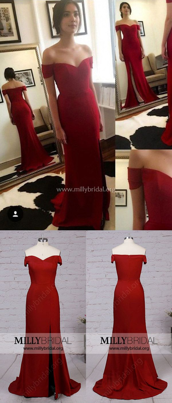Prom dresses red formal evening dresses mermaidoffthe