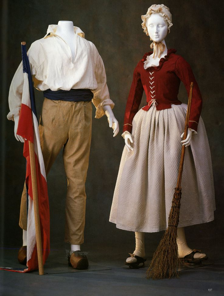 6. Man's costume from the period of the French Revolution ...