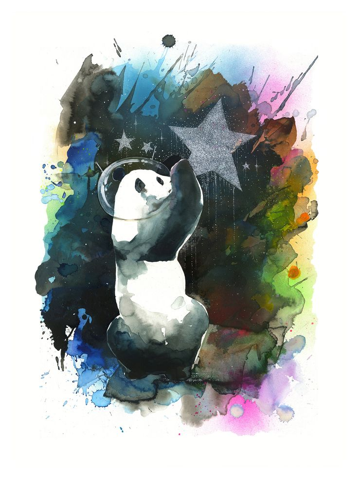 Stardust limited edition print by lora zombie eyes on walls
