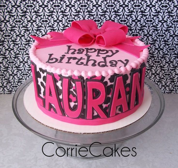 Pink and Cheetah print - cake by Corrie
