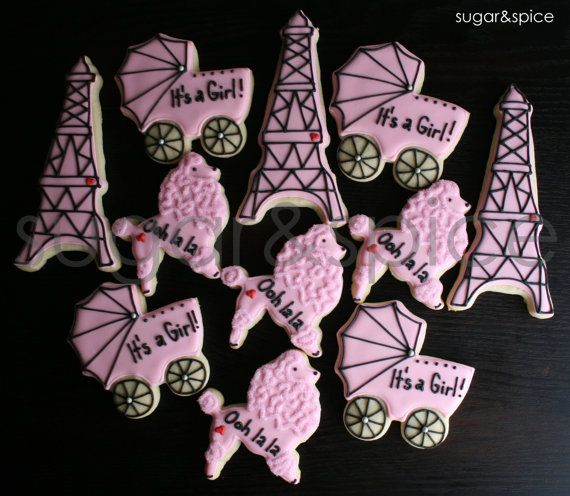 Parisian Theme Baby Shower Poodle Eiffel By Shopforsugarandspice, $42.00