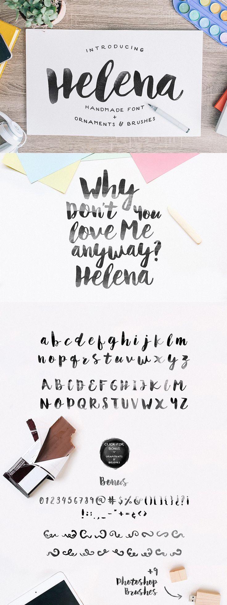Helena Font by Noe Araujo | 22 Professional & Artistic Fonts Apr 2015