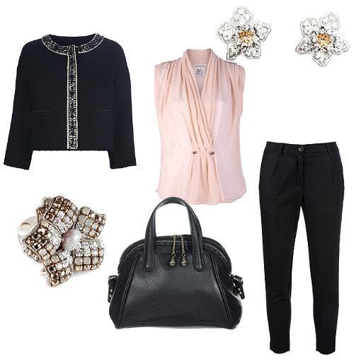 Jacket Semi Couture  Blouse Semi Couture  Pants Semi Couture  Bag Lancel  Earrings Tataborello Officina Bijoux  Ring Tataborello Officina Bijoux