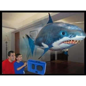 Air Swimmer Remote Control Inflatable Flying Shark--The children will love this!!! Get it from this awesome affiliate link and watch them light up!!