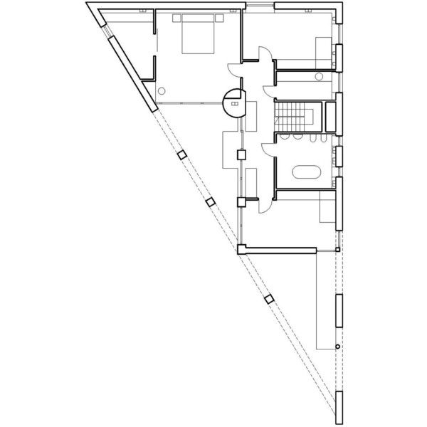 archi plan triangle corner of the house ❤ liked on Polyvore featuring fillers, backgrounds, text, effects and houseplan