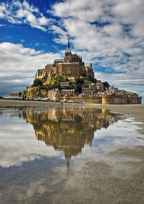 Mont St. Michel in France. - One of the coolest places I've ever been to...fascinated by it!