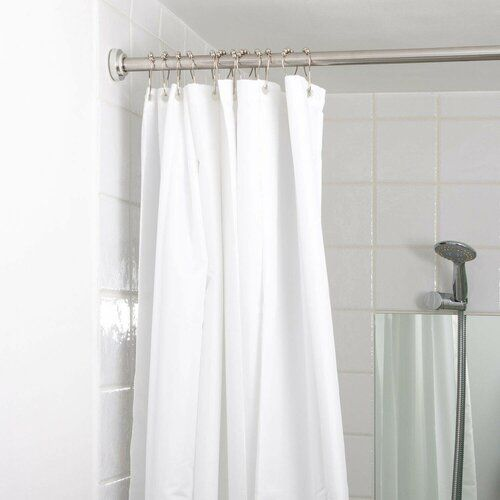Lara 2 2cm Adjustable Straight Tension Shower Curtain Rail Symple