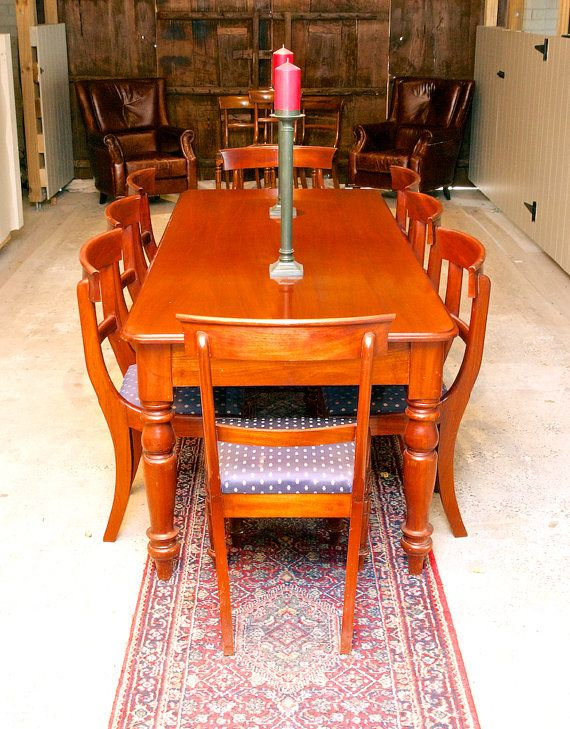 Beautifully finished Victorian reproduction cedar dining table by TheLoch on Etsy