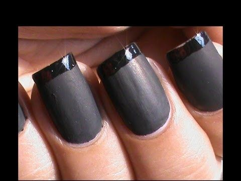 French tip Matte Nails - How to DIY at Home - YouTube
