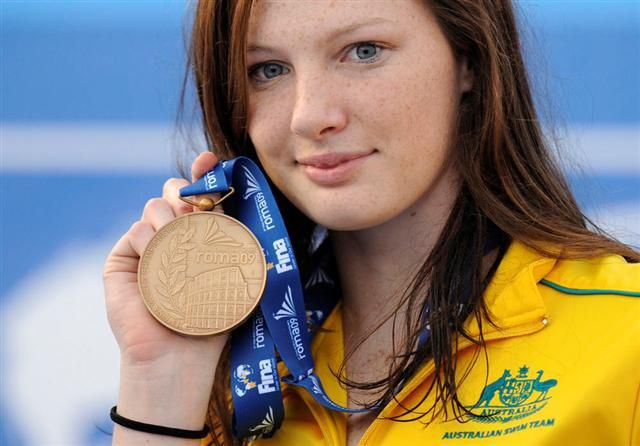 Cate Campbell (1992) Australian Olympic swimmer, at 16 won 2 gold metals during the Beijing summer Olympics for freestyle, trained by Simon Cusack. (*source unknown)