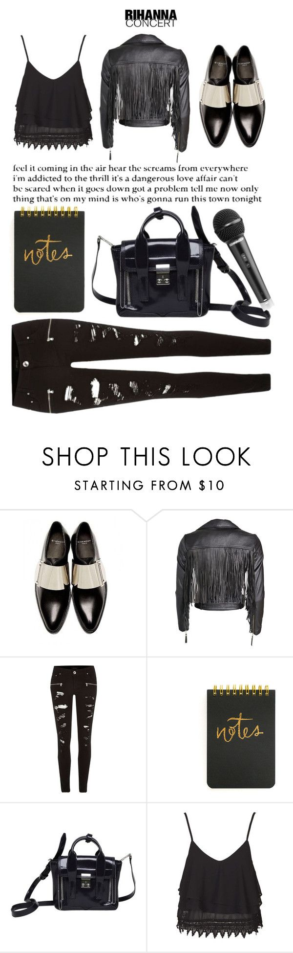 """Another concert look"" by lseed87 ❤ liked on Polyvore featuring Givenchy, Designers Remix, River Island, 3.1 Phillip Lim, Topshop and Rihanna"