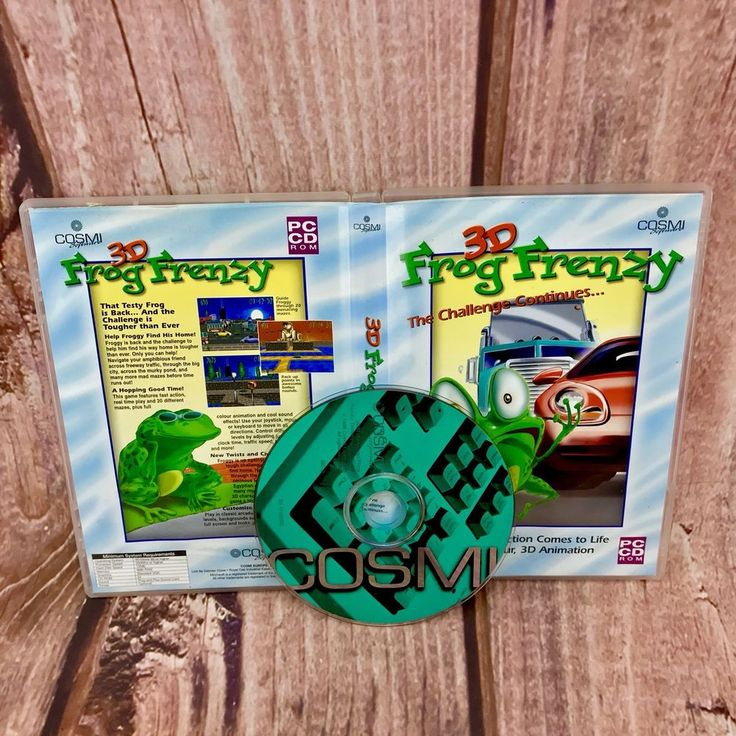 3D Frog Frenzy PC cd rom video game arcade action game windows 95 98 ME vgc