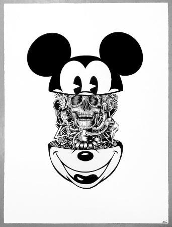 Peter-John de Villiers    Mickey - 2012    Indian ink on paper, framed     57 x 76 cm