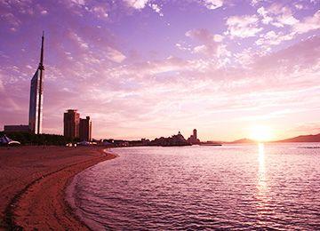 Seaside Momochi beach park.Looking for more information aboout Fukuoka? Go Visit Fukuoka Tower Official Website. http://www.fukuokatower.co.jp