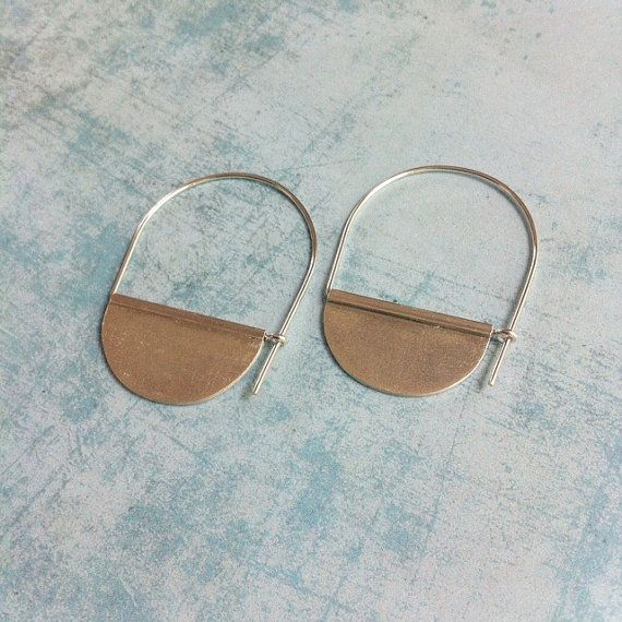 Sterling Silver Earrings  10215M3LG  Hoop and dangle by carlaamaro