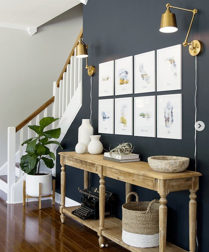 A Fave Affordable Lighting And Home Furnishings Source Grey Accent Wall Living Room Accent Walls In Living Room Accent Wall Entryway