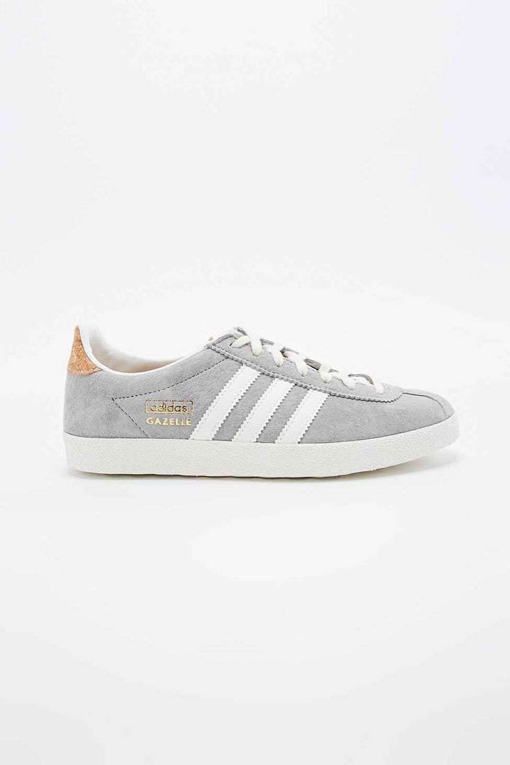 Adidas Gazelle Suede Trainers in Grey - Urban Outfitters
