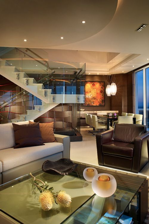 Beautiful Penthouse Living Room At The Akoya In Miami Beach