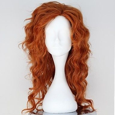 Tinker Bell and the Pirate Fairy Zarina Auburn Color Synthetic Medium Long Curly Anime Cosplay Wig – USD $ 42.99