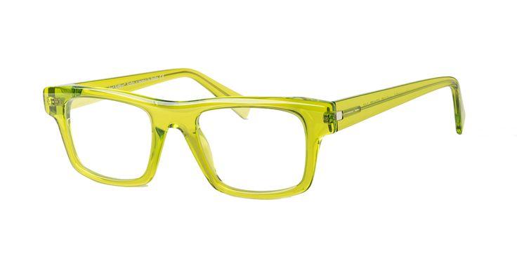 GLARE mod. DAVID col. 660TRANSPARENT ACID GREEN. A Design Eyewear completely handmade in Italy
