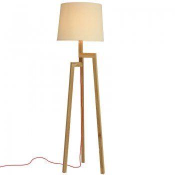 Houten vloerlamp Iluce Wood line