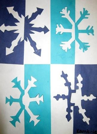 Positive/Negative Snowflakes