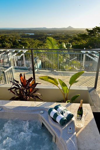 This could be the view from your private rooftop spa for the weekend! @ Noosa Blue