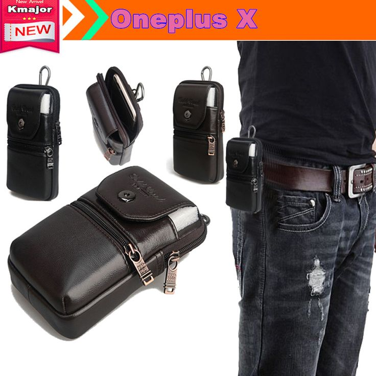 Genuine Leather Carry Belt Clip Pouch Waist Purse Case Cover for OnePlus X 5.0inch Phone Free Drop Shipping