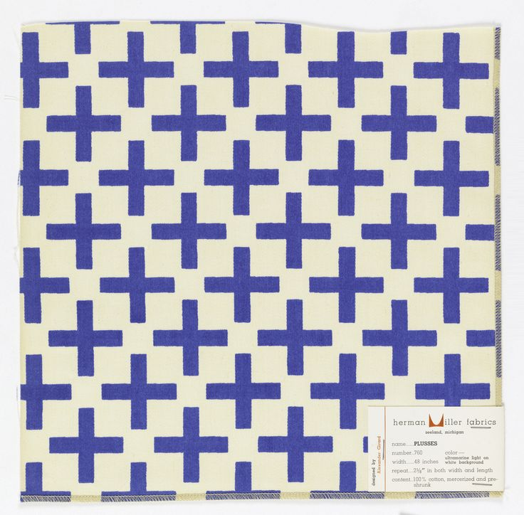 Alexander Girard; 'Plusses' Textile Design for Herman Miller, 1959.