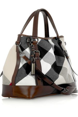 Burberry Large Lowry Canvas Tote is perfect for any Modern Gladiator http://gtl.clothing/a_search.php#/post/Burberry/true @gtl_clothing #getthelook