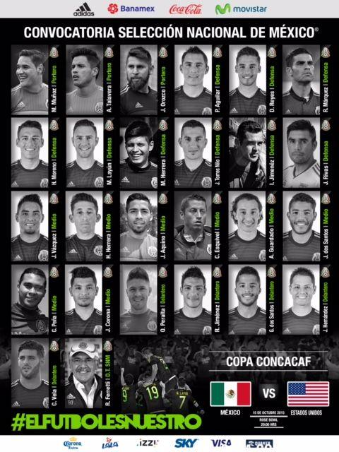 #Futbol: Selección Mexicana, convocatoria para Partido Clasificatorio a Copa Confederaciones http://jighinfo-futbol.blogspot.com/2015/10/seleccion-mexicana-convocatoria-para.html?spref=tw