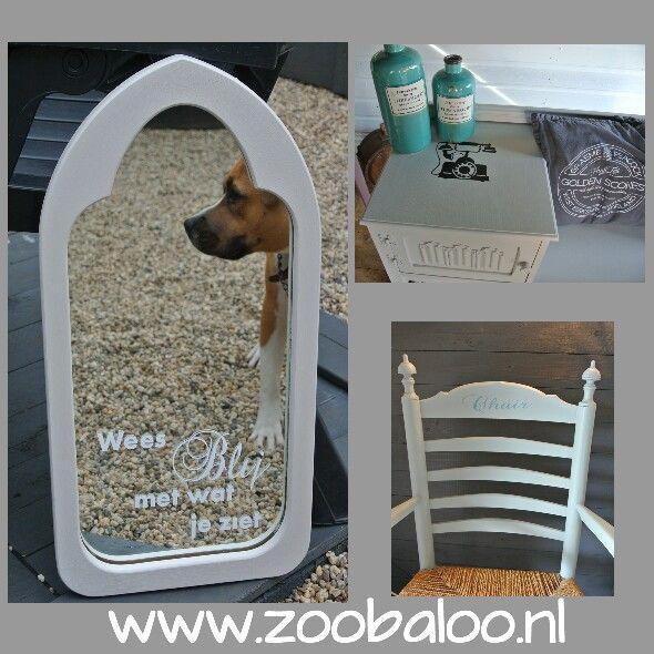 Meubelstickers besteld bij zoobaloo.nl.  Stickers zelf te plakken op uw eigen meubels.