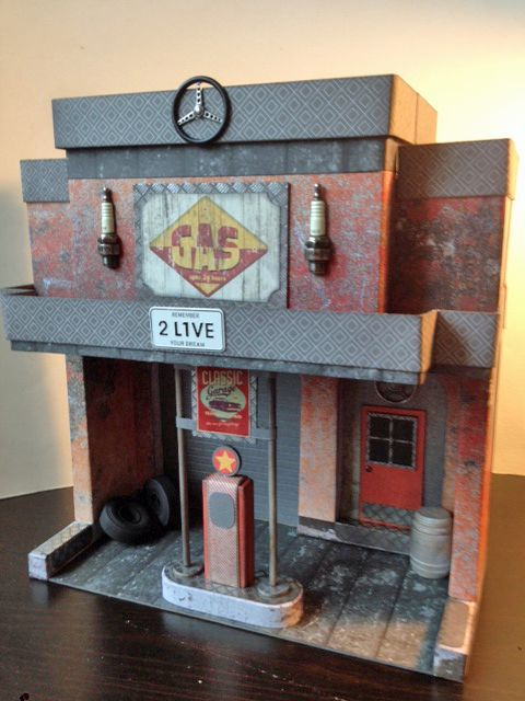 Marvelous Maple Street Gas Station By Laura Denison