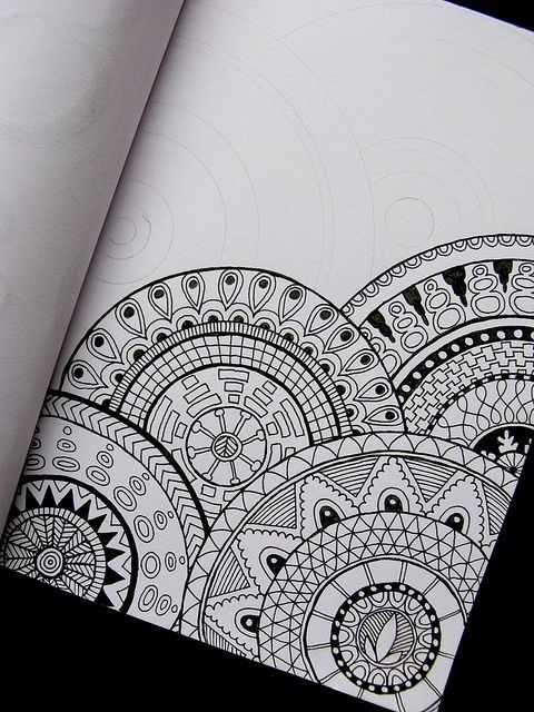 zentangle- great art therapy exercise for middle school, high school, or adults