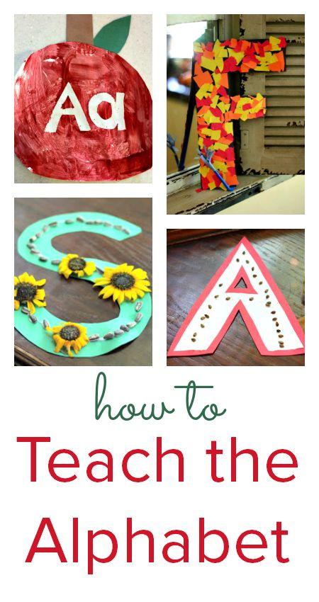 How to teach the alphabet :: alphabet games :: alphabet activities