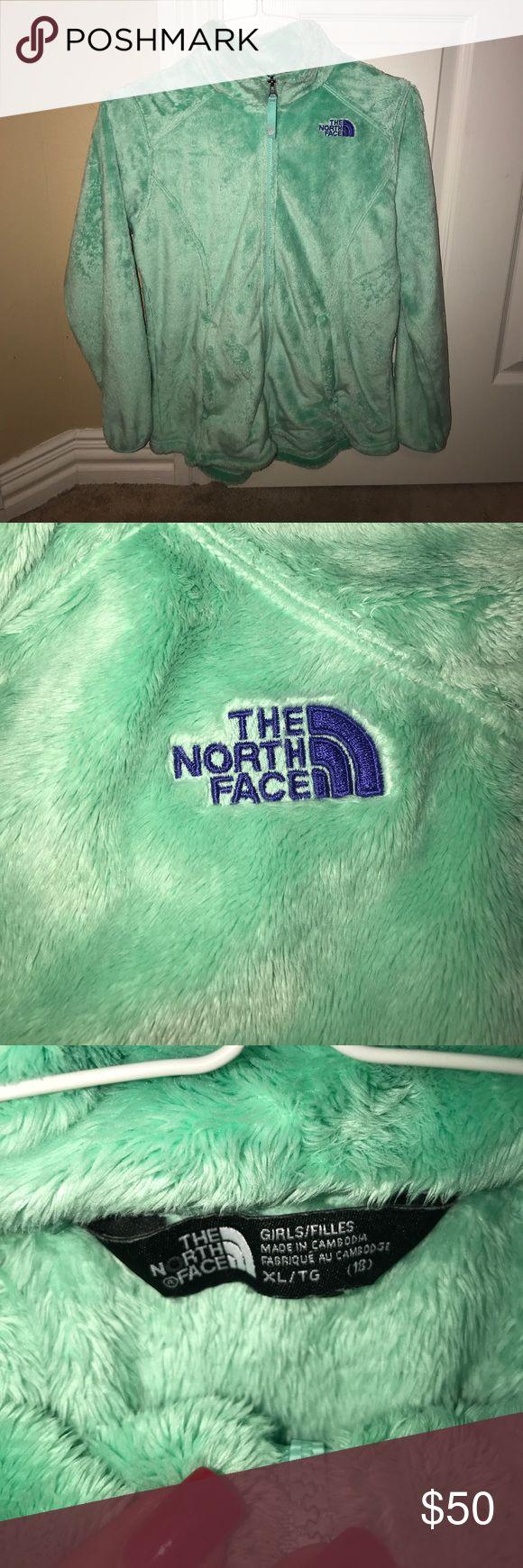 Mint green Girls north face jacket MInt green girls north face jacket! North Face Jackets & Coats