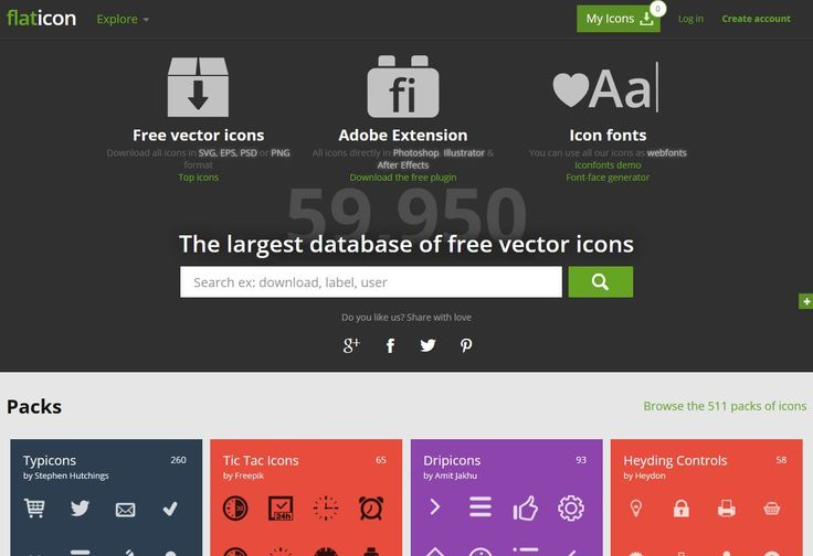 Flaticon: The largest database of free vector icons