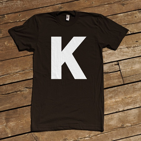 K T-shirt: Tees Shirts, Dresses Up, Letters K, Cmyk Tshirt, Graphics Design, Design Tshirt, Black White, Halloween Dresses, T Shirts