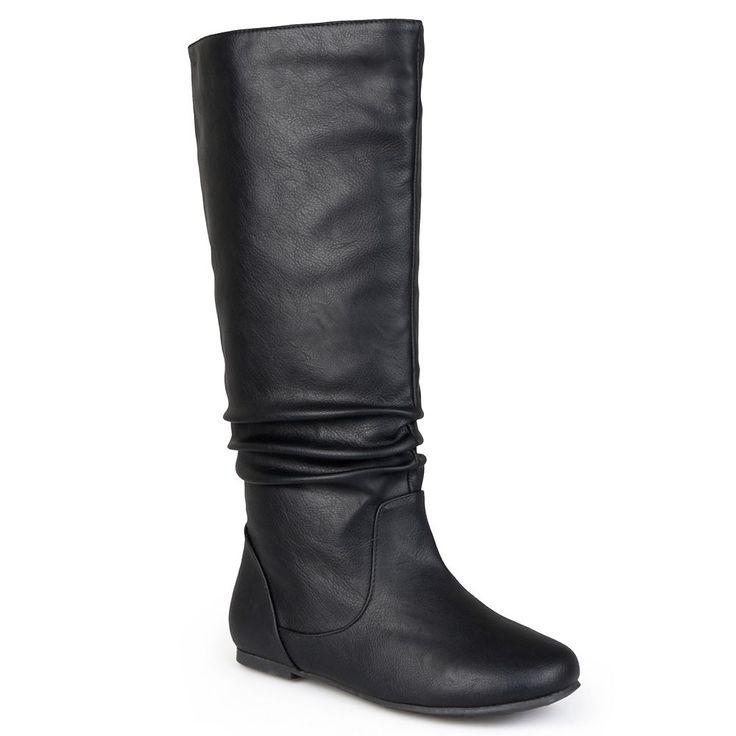 Journee Collection Jayne Women's Knee-High Boots, Size: medium (8.5), Black