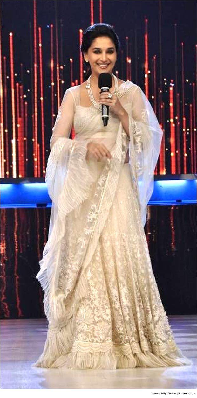 Bollywood Actress Madhuri Dixit in Saree   Designer Sarees