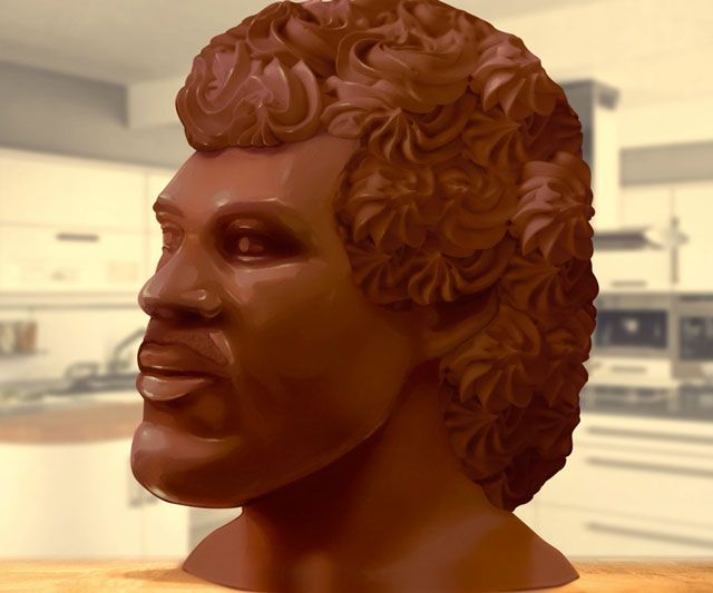 20-Pound Chocolate Lionel Richie Head | DudeIWantThat.com