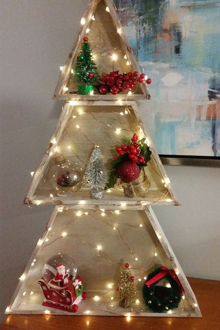 Kmart stacking Christmas tree hack - $12 Kmart Christmas Tree Hack Christmas Joy! Christmas, Kmart