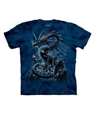 This Blue Skull Dragon Tee is perfect! #zulilyfinds